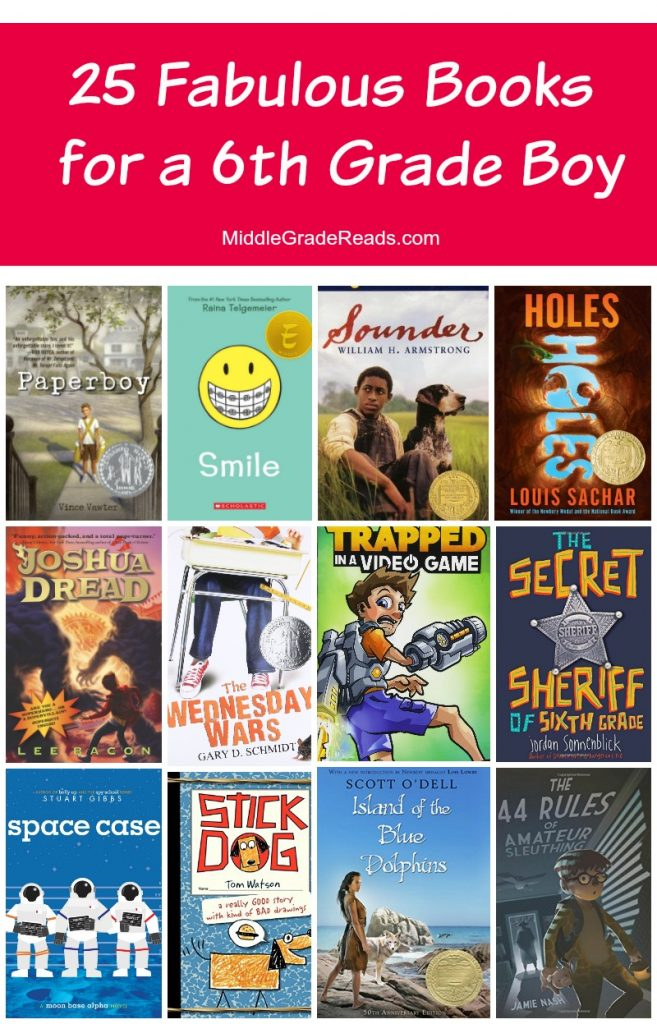 Looking for some of the best books for a 6th grade boy? I've got you covered! Today, I'm sharing my top 25 picks for this middle grade age group! Read on to check them out!