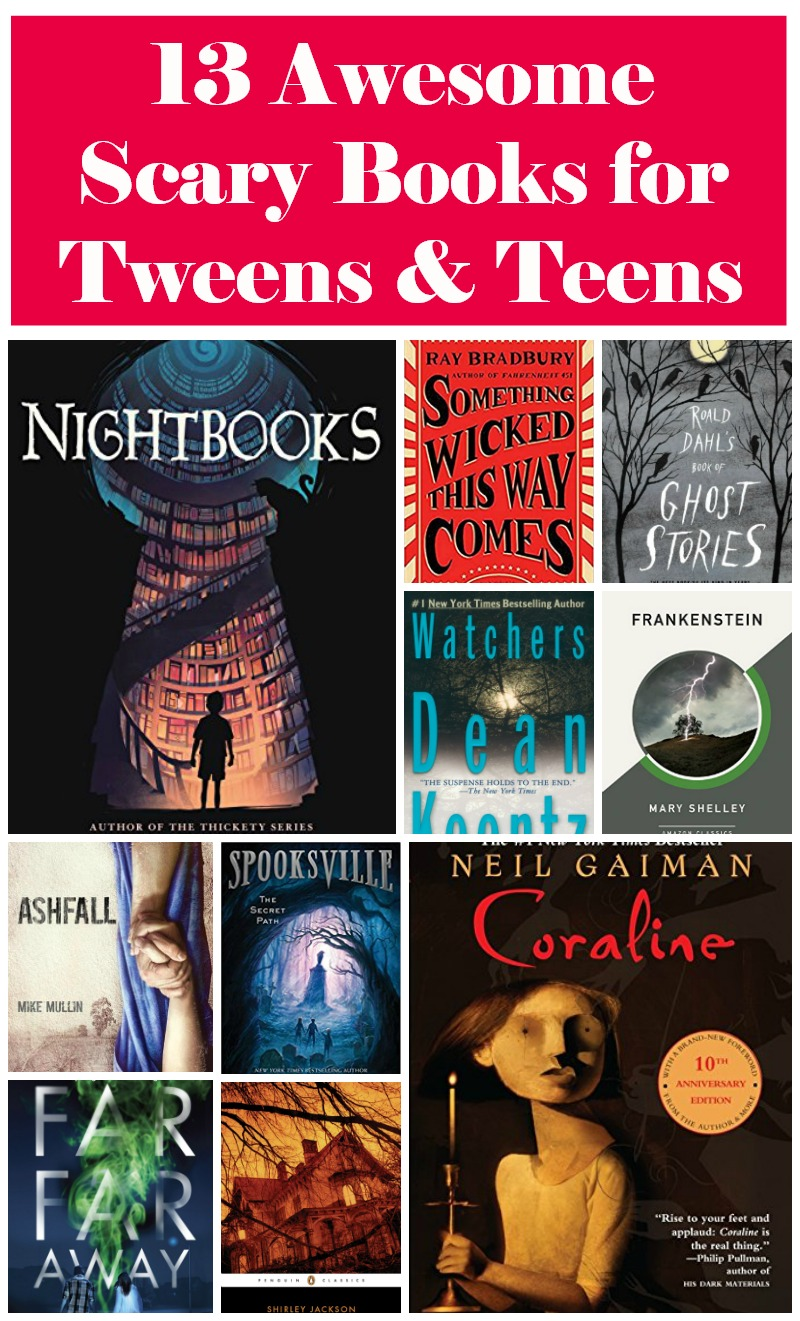 With Halloween approaching, I thought it would be fun to round up some of the best horror books for tweens. Thirteen,to be exact,  because some would call it a spooky number. I hope you love my picks as much as I did!
